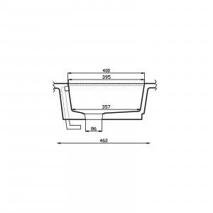 KUMA KW5040 with drainer and steel base